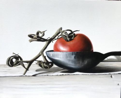Een lepel tomaat