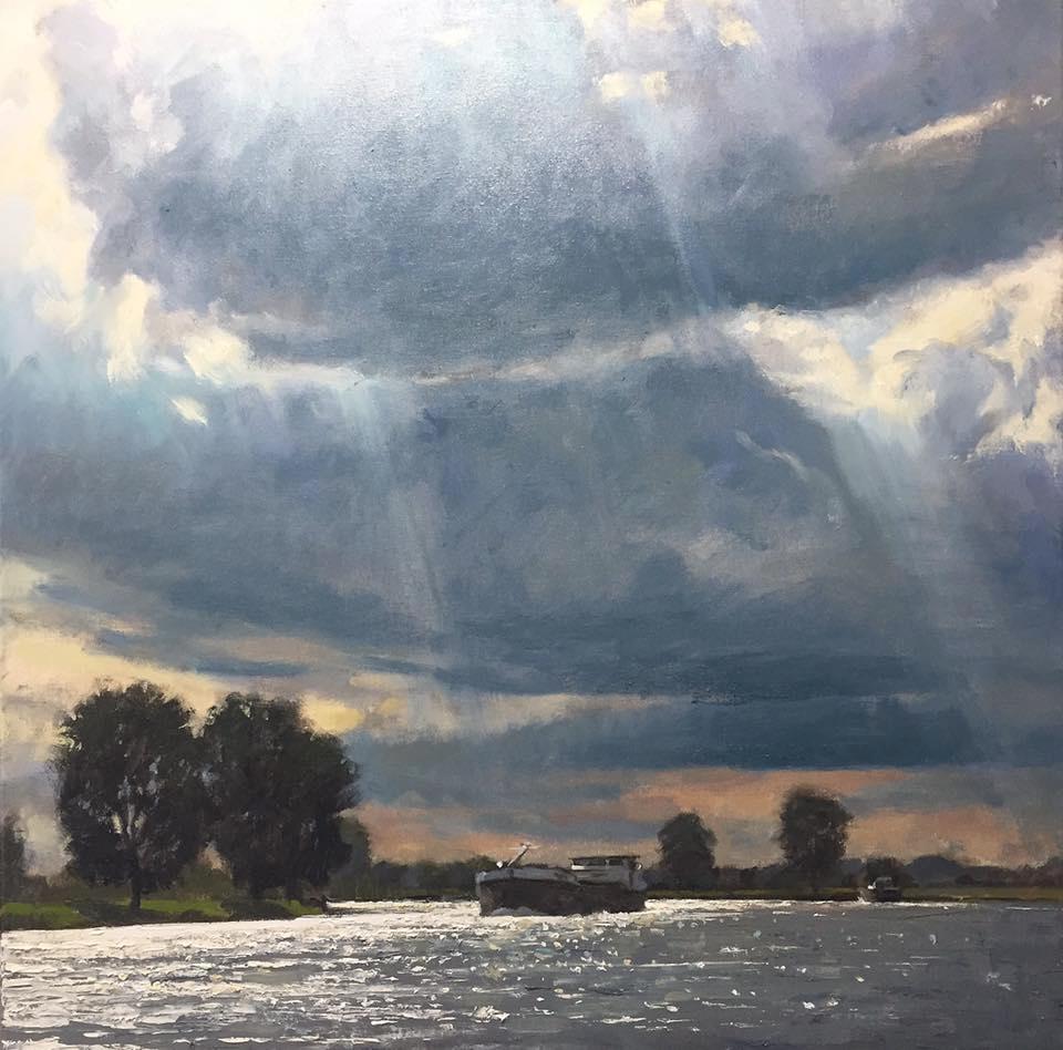 Wolken boven de Maas