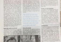 Over de opening een stuk in de plaatselijke krant.