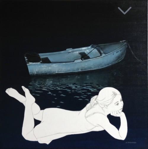Meisje met boot XII