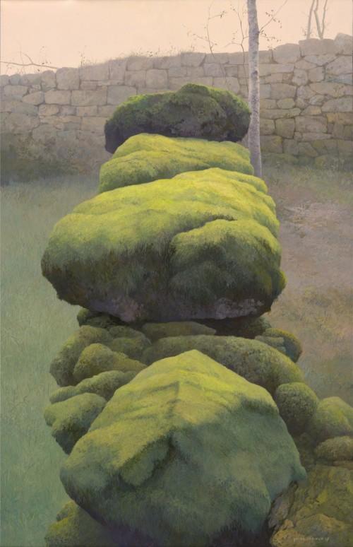 Mossige muur