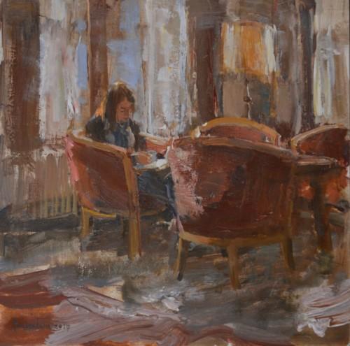 Hotel van der Werff, in de lounge