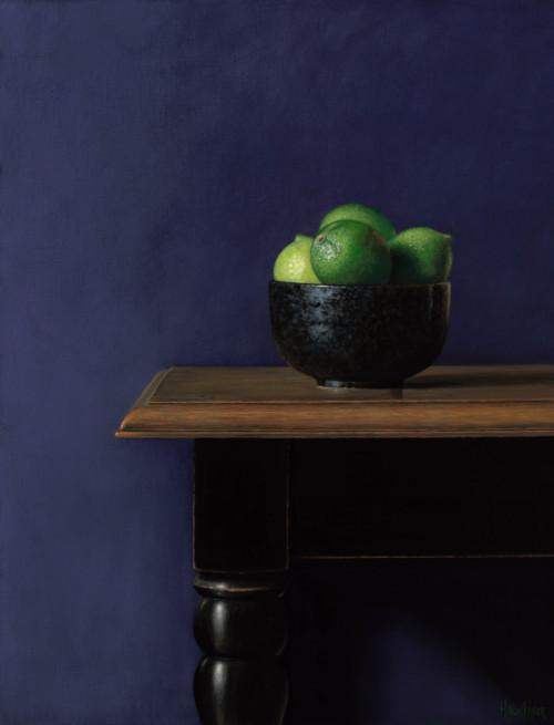 Limoenen in zwarte kom