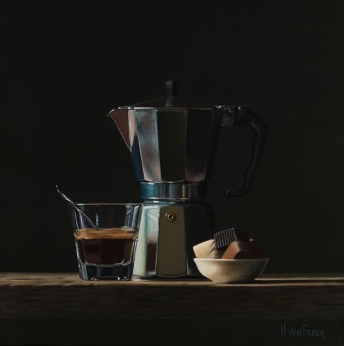 Espressokan met bonbons