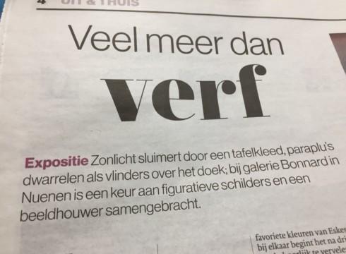 'Veel meer dan verf alleen' bij Galerie Bonnard aldus het Eindhovens Dagblad