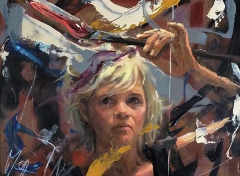 Zelfportret Mitzy Renooy bij 'Portret van het jaar'