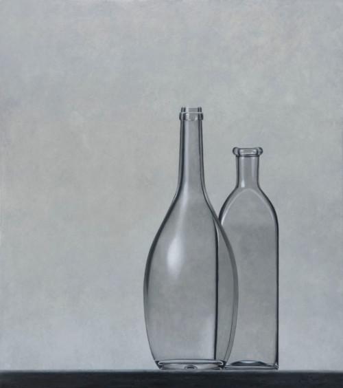 Compositie bolle en vierkante fles