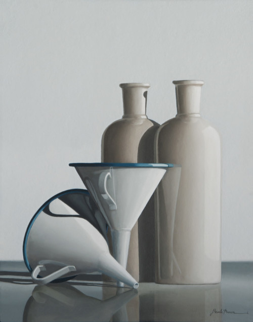 Composition with funnels and pitchers