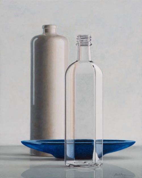 Compositie met blauwe schaal