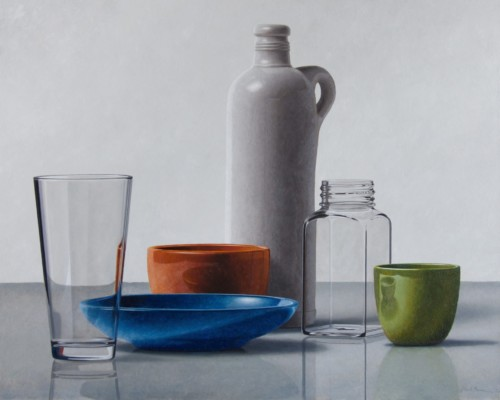 Composition with Gin bottle