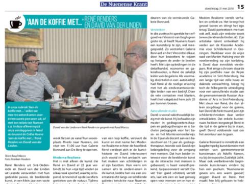 'Aan de koffie' met de Nuenense krant