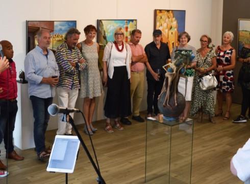 Opening zomerexpositie; druk bezocht en zeer geslaagd!