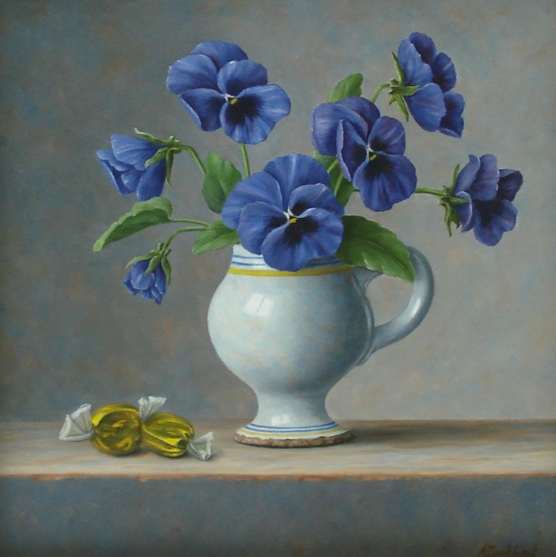 annelies honkhart galerie bonnard viooltjes-met-snoepje-22-x-22-cm-