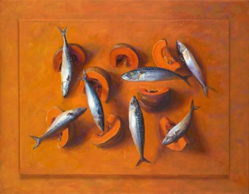 7 Vissen en 1 Pompoen