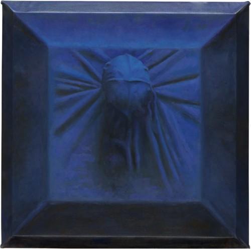 Zonder titel in blauw; de maan is mijn getuige