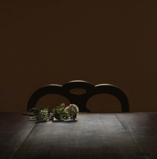 Bloem op tafel