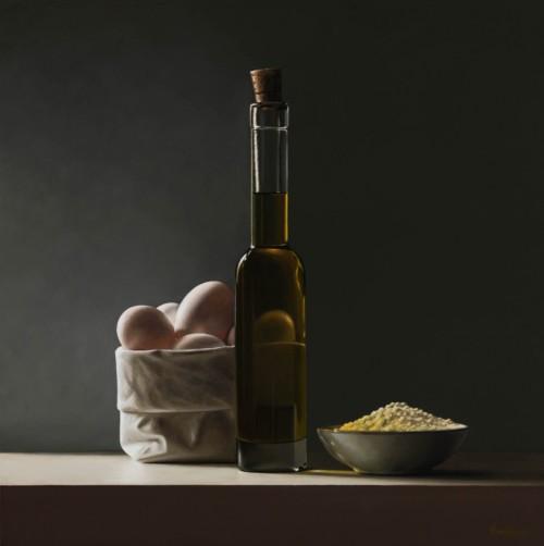 Eieren met olijfolie