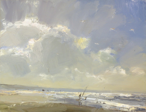 Seascape, Sunny Clouds and Light