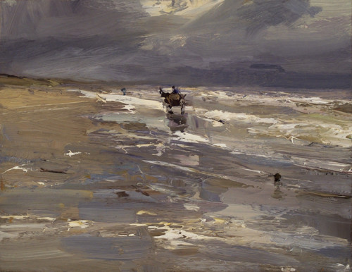Seascape Horse  in Grey, Storm and Light