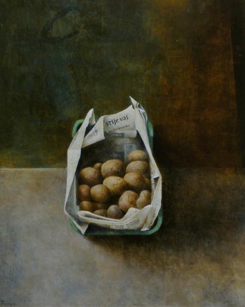 Kist met aardappels