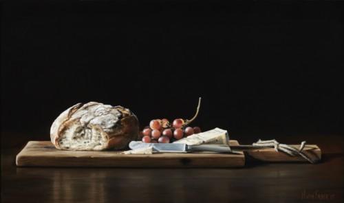 Brood, Kaas en Druiven