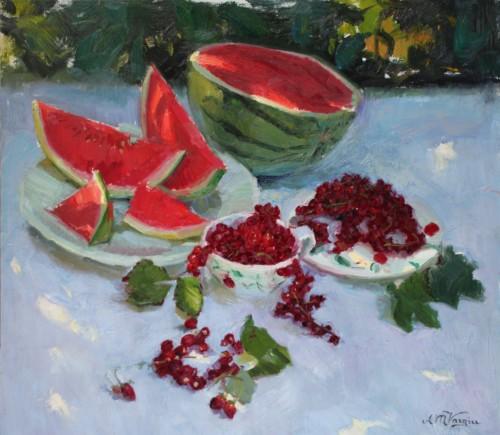 Stilleven met Rood Fruit