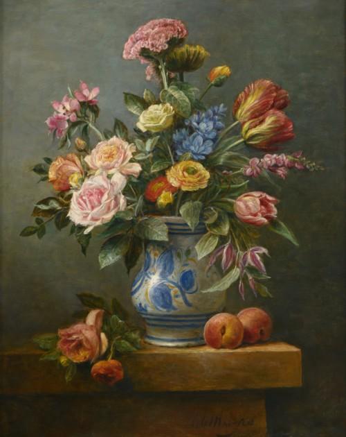 Bloemstilleven met tulpen in Salamanca