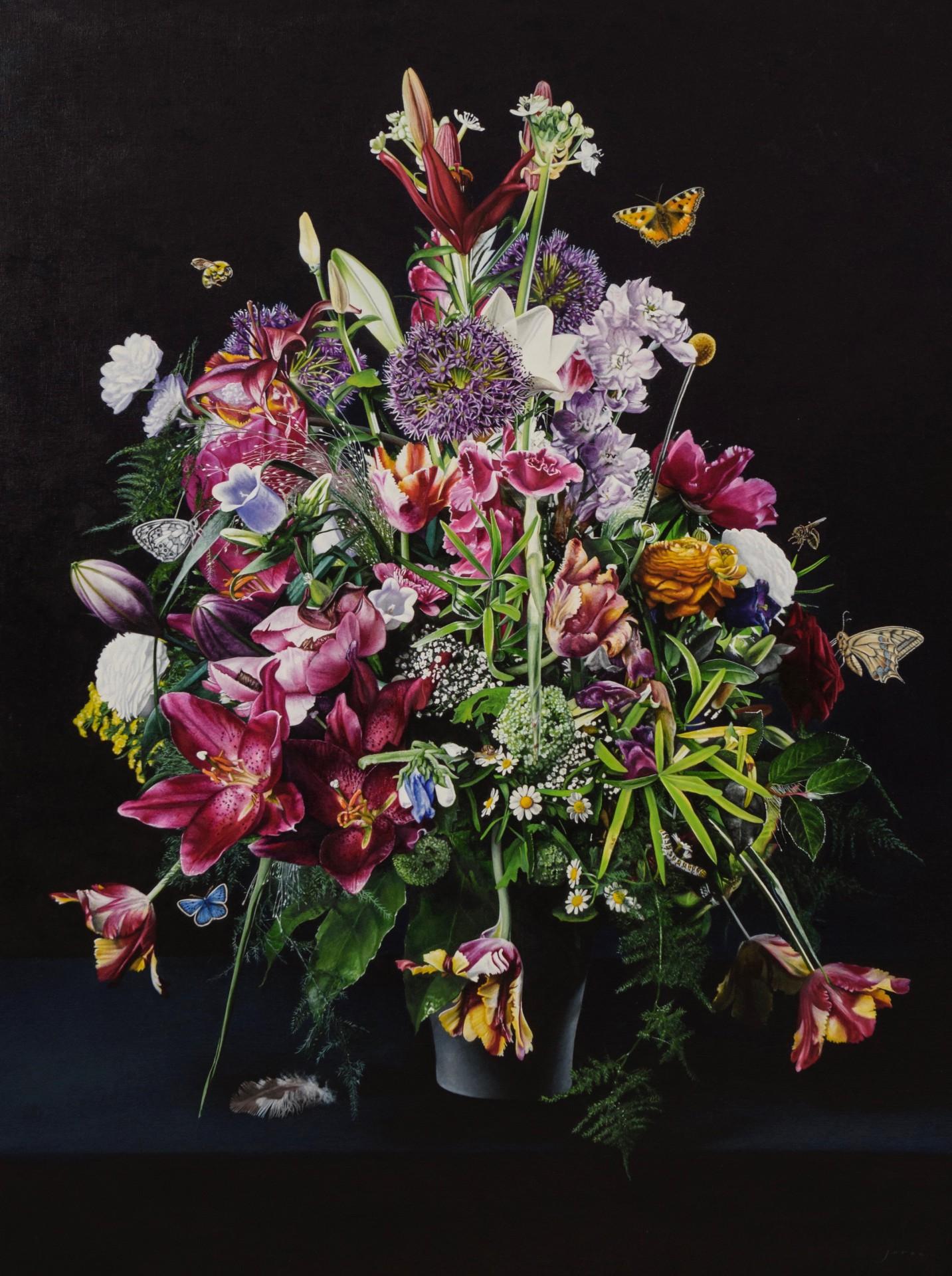 galerie bonnard joran van der haar bloemstilleven-olie-op-linnen-160x120-cm-2017-joran-van-der-haar