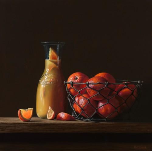 Sinaasappels in een mand