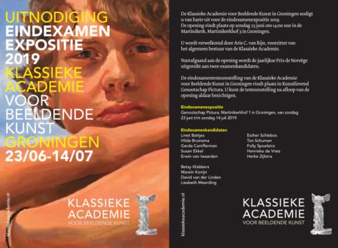 Eindexamenexpositie Klassieke Academie van Groningen.