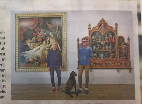 'Cornelis le Mair 75 jaar, een Ode aan het Stilleven in de kranten!