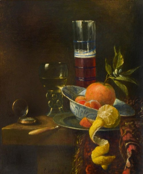 Geschilde citroen op tafel