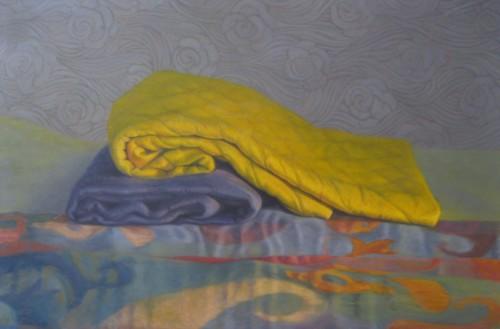 Stilleven geïnspireerd door van Gogh, kleurrijke periode