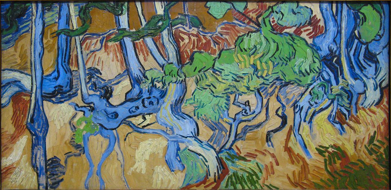 schilderij-boomwortsels-van-gogh