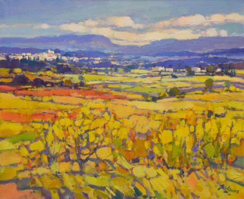Landschap in geel