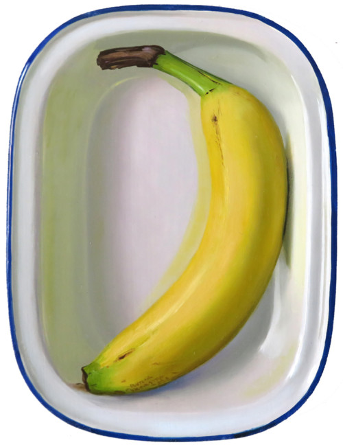 Banana in emaille box