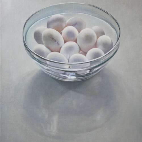 Eieren in glazen schaal (gereserveerd)