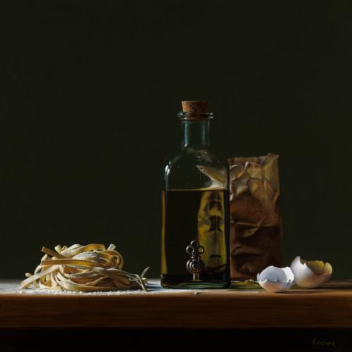 Pasta met olie