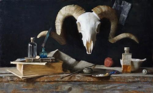 Still-life with skull
