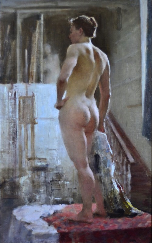 Male nude in studio