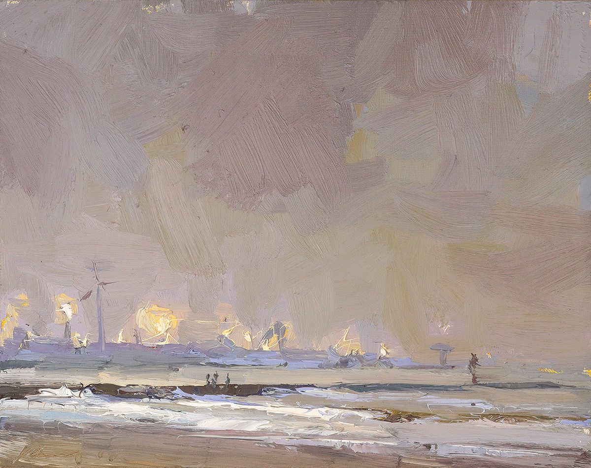 Seascape, 'Fascinating lights at Dawn'