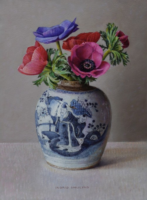 Anemonen in Chinese pot