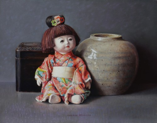 Chinees popje en oude gemberpot