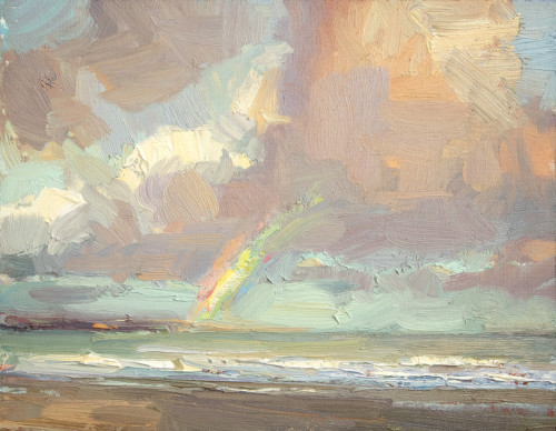 Seascape- Rainbow in Morning light