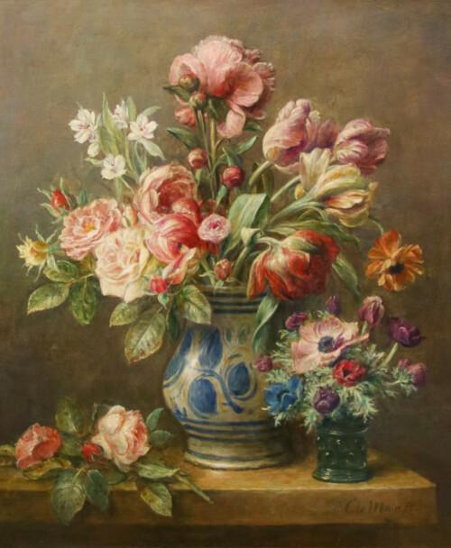 Bloemstilleven met Tulpen