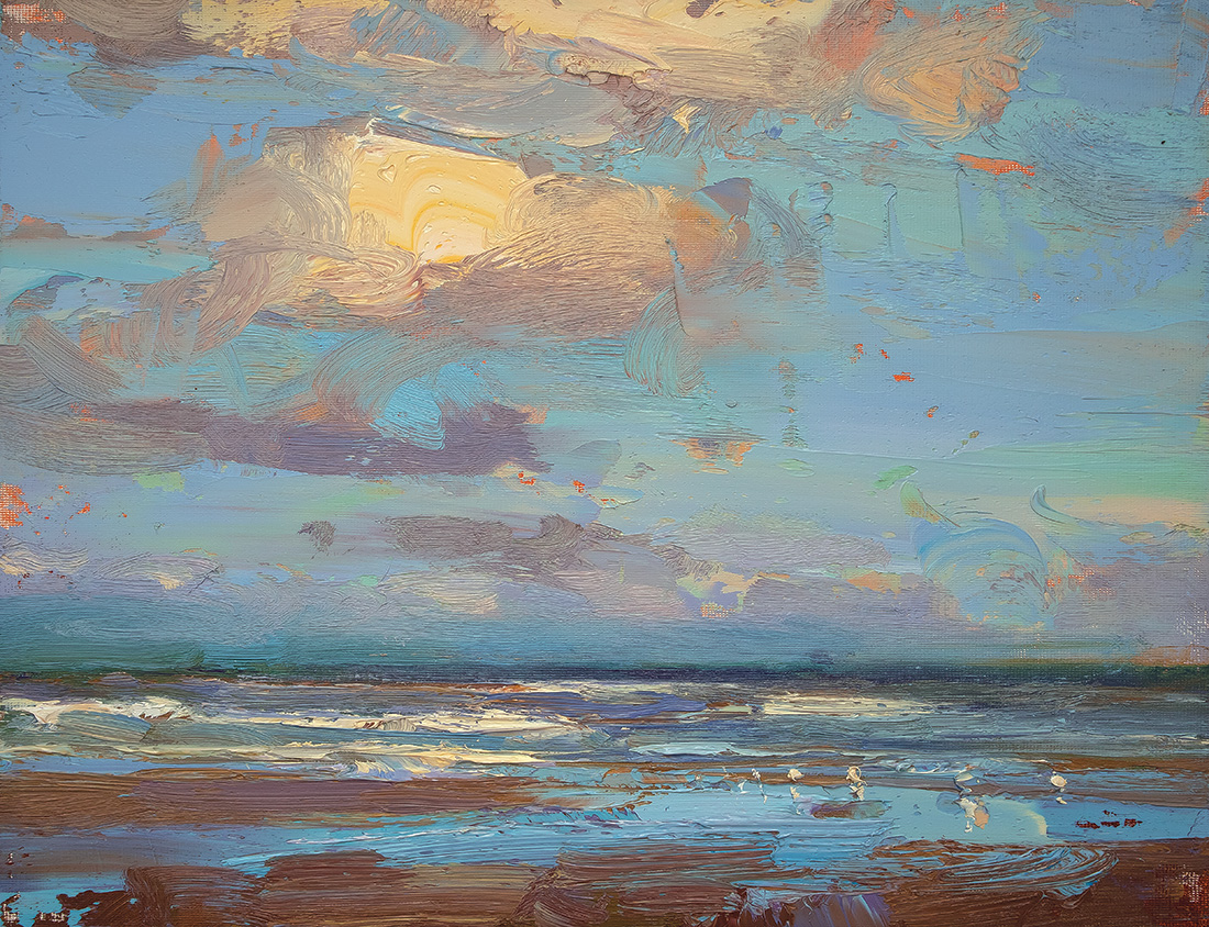 Seascape, Morning, Colors & Clouds