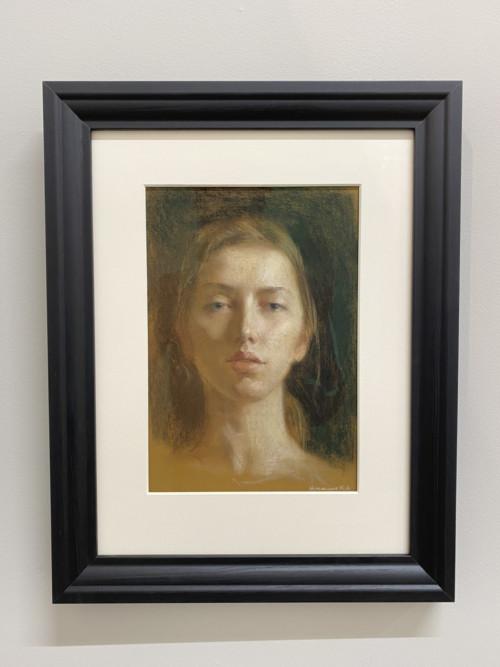 Self- portrait in pastel