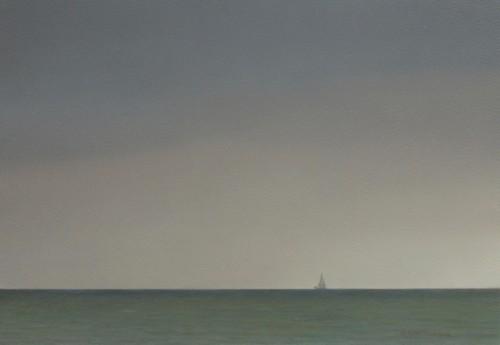 Zeilbootje op het IJsselmeer