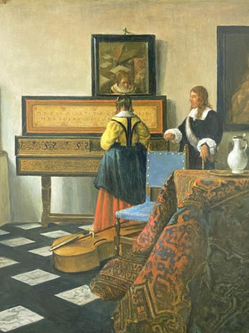 De Muziekles ( naar Vermeer)