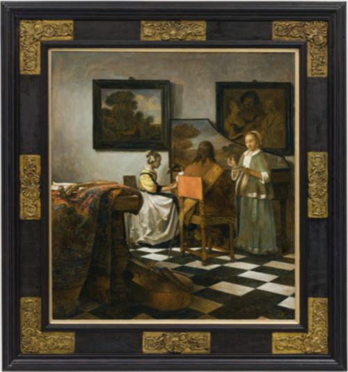Het concert (naar Vermeer)